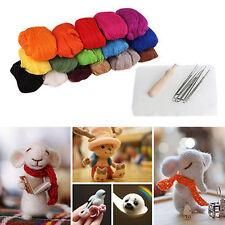 16Colors Wool Felt + Needles Felt Tool Needle Felting Mat Starter DIY Tool Kit