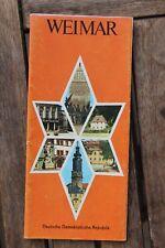 28551 Reise Prospekt WEIMAR mit Stadtplan u. viele Fotos aus DDR-Zeit 1979