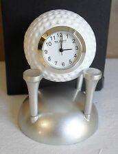 Golf ball on Tee miniature clock BNWB