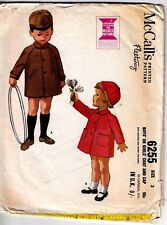 Vintage McCall's 6255 sewing pattern, Boys' or Girls' Coat and Cap