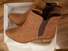 BNWB Womens Kurt Geiger Miss Kg Tan Ankle Boots With Stud Detail Sizes UK7&EU41