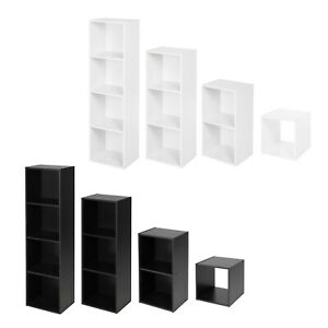 Wooden Bookcase 1 2 3 4 Cube Storage Unit Shelving Display Shelves Wood Shelf