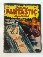 FAMOUS FANTASTIC MYSTERIES PULP OCTOBER 1950 Cover Art by Lawrence