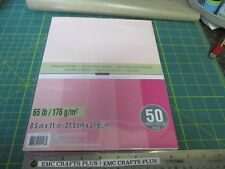 """PINK BUTTONS CARD STOCK PAPER  -8.5""""X11""""  5 SHADES OF VALENTINE PINK RECOLLECTIO"""
