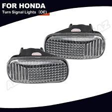 2x Oe Side Marker Light Clear Lens For Honda Accord Civic Cr V Acura Rsx Integra