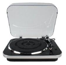 Black Silver KONIG 3 Speed USB TURNTABLE Convert Vinyl To MP3