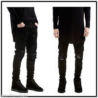 New Men Stylish Ripped Jeans Pamts Biker Classic Skinny Slim Fit Denim Trousers