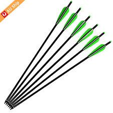 "12X 20"" Crossbow Bolts Aluminum Arrows Screw Tips Crossbow Arrows Hunting"