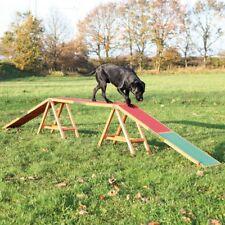 Dog Agility Bridge Slip Proof Rubber Balance Motor Skills Condition Outdoor Use