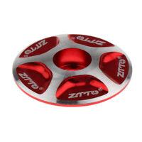 Perfeclan Alloy Threadless Headset Top Cap Headset Stem Cap for MTB Bike Red