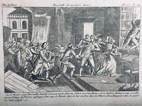 Ambassadeur de France à Rome 1793 Italie Révolution Française Rare Gravure