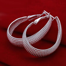 925 Sterling Silver Hoop Pierced Earrings  L7