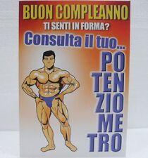 BIGLIETTO DI BUON COMPLEANNO -MISURA cm. 11,5x17