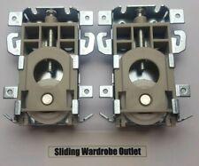 4x unbranded sliding wardrobe door part Wheels//Runner//Guides