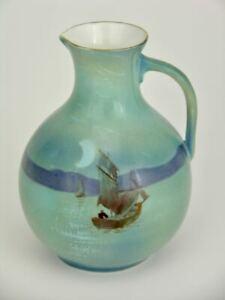 Late Foley Shelley Moonlight Boat Jug Vase 1920s