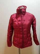 CALVIN KLEIN Red Metallic Puffer Goose Down Coat Winter Jacket Women's Size S