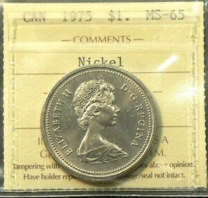 1975 Canada $1 Dollar ICCS MS 65 #10014