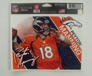 Peyton Manning # 18 Denver Broncos Multi-Use Decal