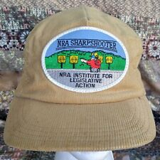 Vtg NRA Sharpshooter National Rifle Association Snapback Corduroy Hat Cap USA