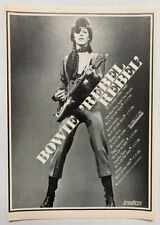 New listing David Bowie 1974 vintage Dutch Advert Rebel Rebel Diamond Dogs