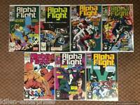 Alpha Flight #19-23 Comic Book Set Marvel 1984