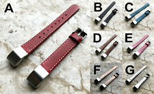 Classic Modern Elegant Soft Leather Band Strap with Stitches for Fitbit Alta HR
