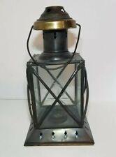 "BLACK Candle holder Lantern light outdoor terrace wedding  Stars 10"" Heavy metal"