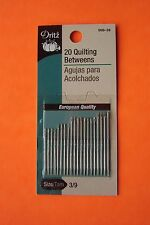 Dritz Quilting Betweens Hand Sewing Needles - Size 3/9 - 20 pack - #56B-39