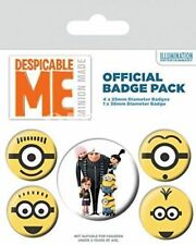 Despicable Me Minions Official Badge Pack Set of 5 NEW