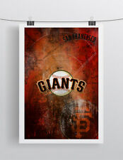 San Francisco Giants 16x20inch Poster San Francisco Baseball Free Shipping Us
