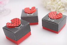 20 x Ladybird Party Bomboniere Candy Box Treat Baby Shower Sweets Favours