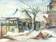 Russel Snyder 1940's oil Spring Hill in Snow Lot 1175