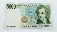 1985 Italy 5000 Lire Note AU Condition Pick #111a