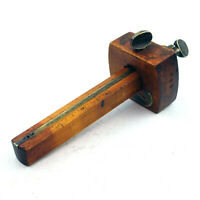 Early / Vintage Wood & Brass Marking Gauge