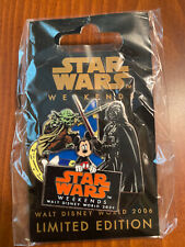 WDW Disney Star Wars Weekends 2006 Pin-Yoda/Darth Vader Limited Edition SEALED