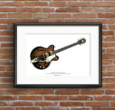 George Harrison's 1962 Chet Atkins Country Gentleman ART POSTER A2 size