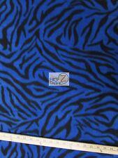 "ZEBRA PRINT POLAR FLEECE FABRIC - Blue - 60"" WIDTH SOLD BY THE YARD 2"