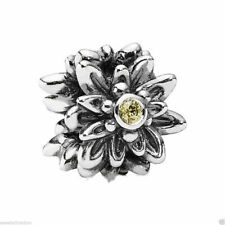 New Authentic Pandora Charm Edelweiss Yellow Bead 791176CZY W Suede Pouch