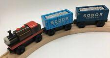 Thomas Wooden Railway Bertram, Scrap Cars, Cargo 2001 COMPLETE! Train Set Lot