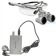 Dental 35x Surgical Binocular Loupes Glass Medical Magnifier Led Head Light