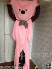 78''  PINK BIG CUTE PLUSH TEDDY BEAR Skin semi-finished products toy doll gift