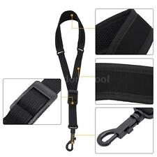 Adjustable Saxophone Sax Neck Strap Cotton Padded with Hook Clasp Black I4U6