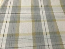 100% cotton linen fabric munn checks grey yellow mustard curtains upholstery