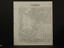 Wisconsin Waukesha County Map 1967 Oconomowoc, Fowler Lake, Double Sided R2#69
