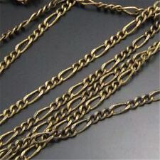 1 Meter Antik Bronze Metall Ketten Halsketten Anhänger Oval Ring Verbindungen