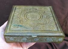 Old Vintage Antique Brass Ornate Middle Eastern Box Jewelry Trinket
