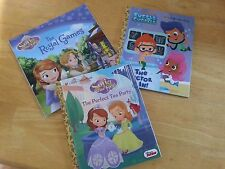 Lot of 3 Sofia The First Bubble Guppies ~ Royal Games Tea Party Doctor Is In