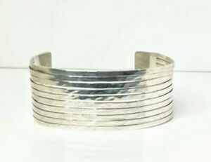 RETIRED James Avery Sterling Silver Hammered Wide Cuff Bracelet RARE