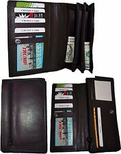 Lot of 3 New Woman's checkbook wallet 9 Credit card ID compact wallet zip pocket