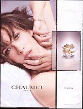 CHAUMET PARIS  Pub de Magazine .Magazine advertisement. 2012. page papier